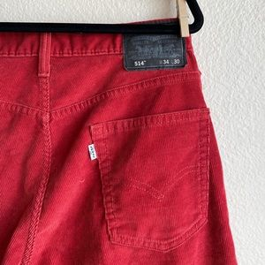 Red Corduroy Wide Levi 514